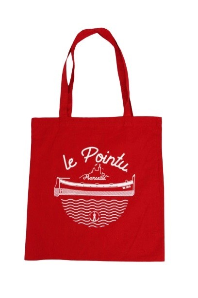 "tote bag le pointu rouge - Tote bag ""Le pointu"""