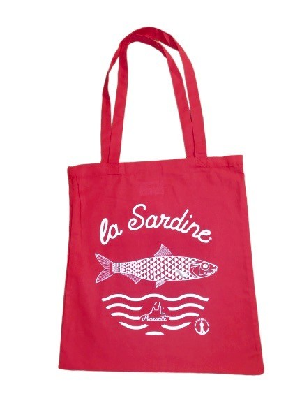 "Tote bag ""La Sardine"" - ROUGE"