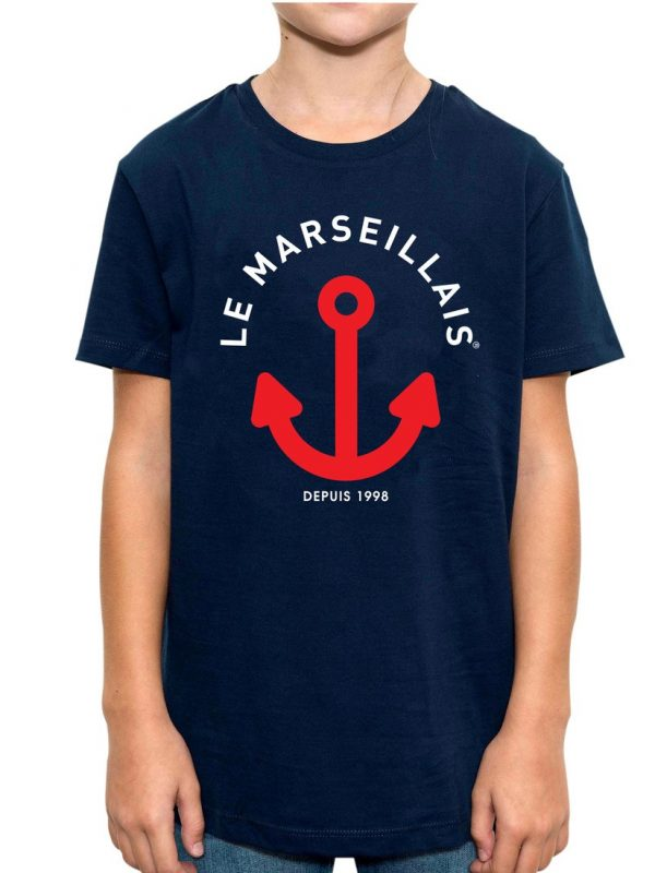 B ETS ancres 2 NAVY 600x800 - Tee-shirt Ancre Bicolore enfant - NAVY
