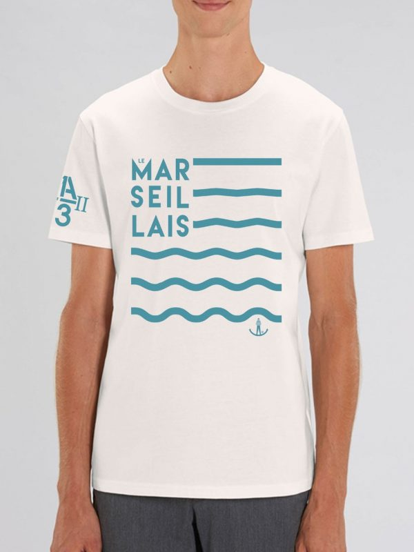 "Vague blanc casse hom 600x800 - "" Vagues"" Tee-shirt homme"